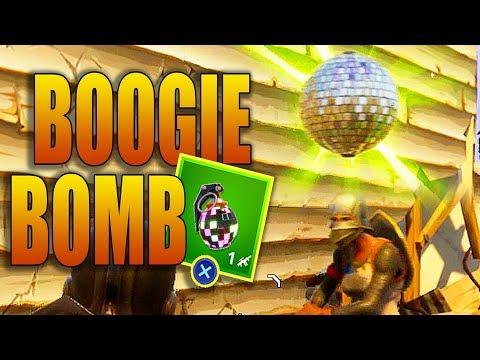 BOOGIE BOMB GAMEPLAY IN FORTNITE (INSANE DANCE GRENADE)