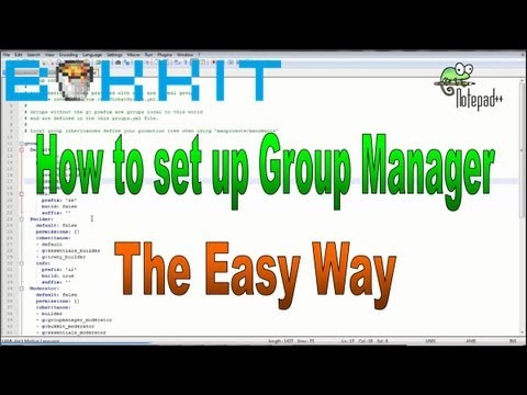 How to set ranks / permissions with Essentials Group Manager 1.7 + Minecraft Bukkit server