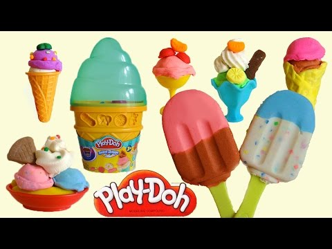 Play-Doh Ice Cream Cone & Banana Split, Sundae Ice Cream Playset