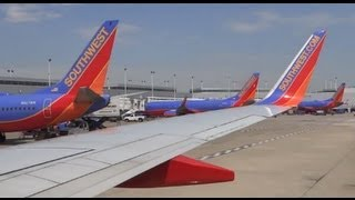 Southwest Airlines Boeing 737-700 Takeoff -- Chicago Midway Airport KMDW / MDW + Enroute to LAX