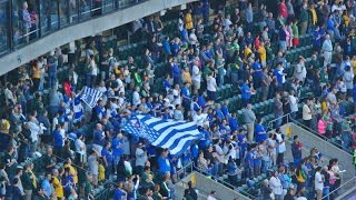 Dodgers vs Athletics Pantone 294 8/18/15