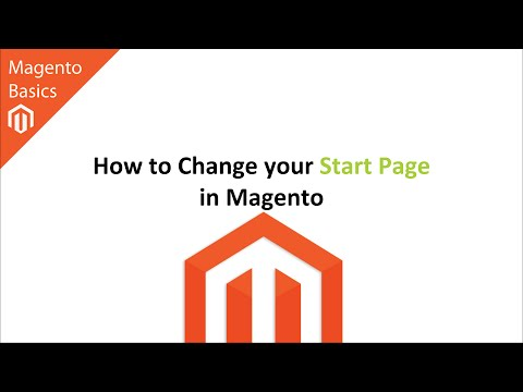 How to Change your Start Page in Magento