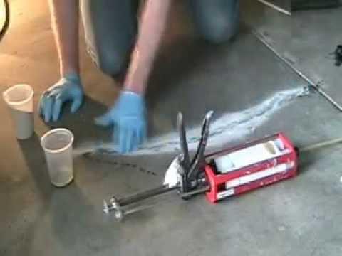Crackweld Pro Kit For Cracks In Concrete Slabs Youtube