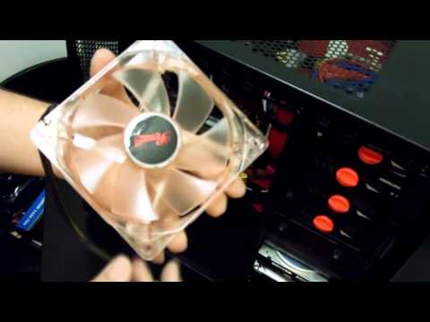 UPGRADING CUSTOM GAMING COMPUTER - 2013 - How to install Case Fans, HDD, RAM, Cable Management