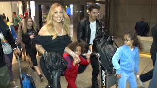Mariah Carey At LAX With Her Happy Family, Says She And Lionel Richie Are Rescheduling Tour