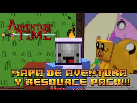 Minecraft Aventura 1.7.2   HORA DE AVENTURA   MAPA + RESOURCE PACK!!!