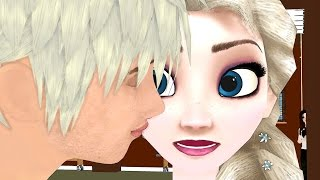 Jack kisses Elsa ! Rachel is Jealous ! High School Frozen Girls Parody