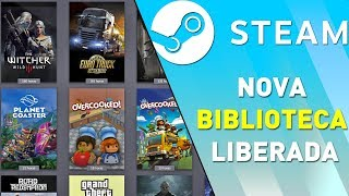 A NOVA BIBLIOTECA DA STEAM - Testando o novo Beta da Steam