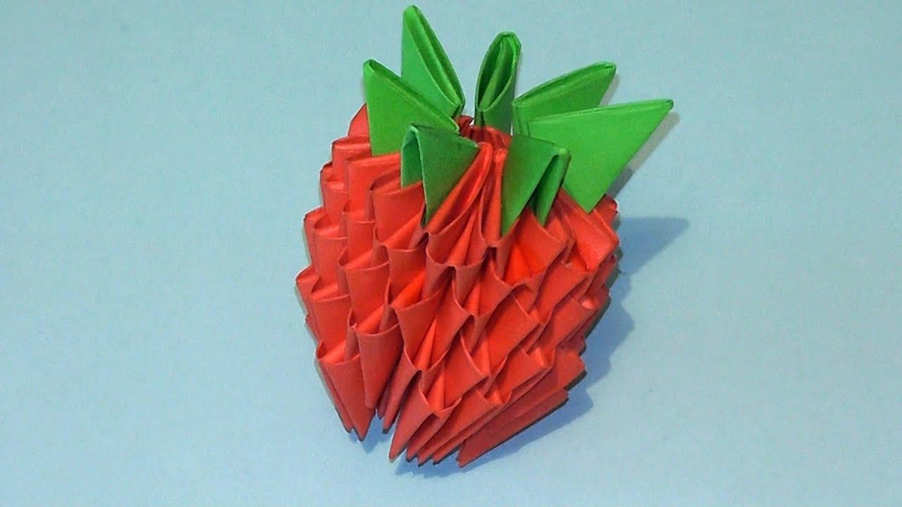 Оригами из бумаги поделка из треугольников