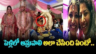 warangal collecter amrapli Marriage video || amrapali marriage video || Top telugumedia