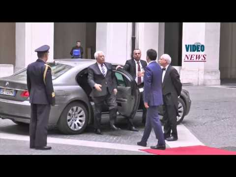 Palestinian President Mahmoud Abbas in Italy