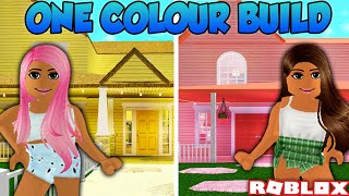 ONE COLOUR ONLY BUILD OFF CHALLENGE W/ AMBERRY & RICHICKEN | Bloxburg | Roblox