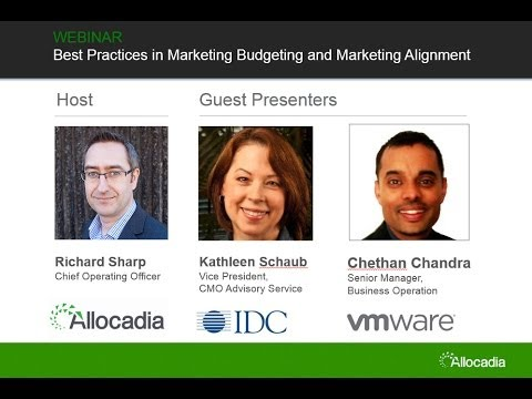 Best Practices in Marketing Budgeting for Improved ROMI IDC VMWare Allocadia Software