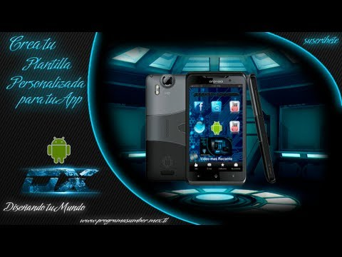 Crea tu plantilla personalizada para tu Aplicacion Android o Iphone