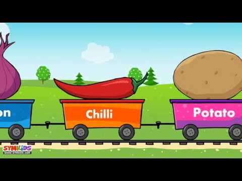 Learn Vegetable Train - learning for kids