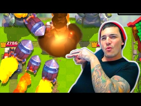 Clash Royale ROCKET CYCLE TROLL DECK!! [Rocket Mirror King Tower ONLY!]