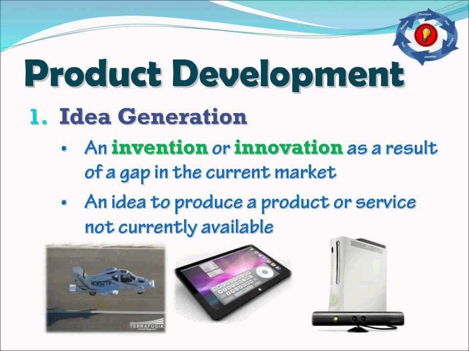 Product development stages youtube for Consumer product design firms
