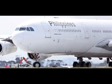 *CLOSE UP* - Philippine Airlines A340-313 TAKOFF - [RP-C3437]