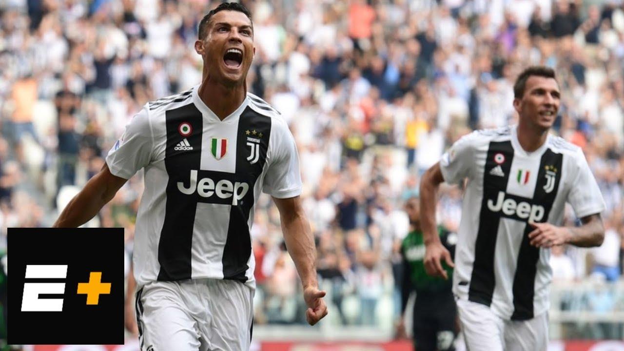 Cristiano Ronaldo scores first two goals for Juventus | ESPN