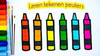 Tekenen en Kleuren | Kleurplaten voor kinderen tekenen en kleuren leren | Love Kids