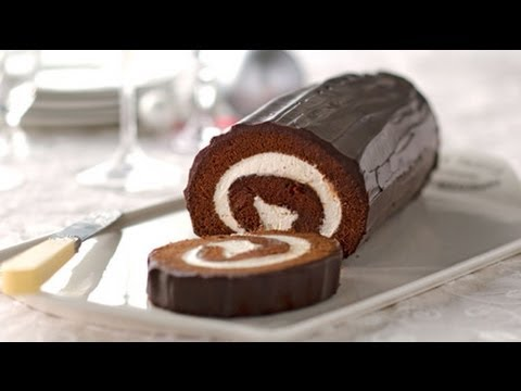 Chocolate Cake Roll With Cream Cheese Filling