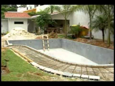 Piscina de concreto armado campestre piscinas youtube - Cemento para piscinas ...
