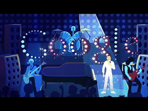 Freddie Mercury Google Doodle