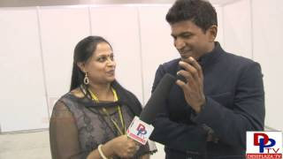 Puneet Rajkumar,Power Star from Karnataka speaking to Desiplaza TV at AKKA World Conference 2014.