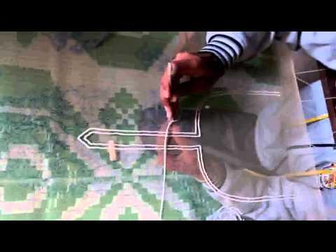 how to punjabi suit hand work design