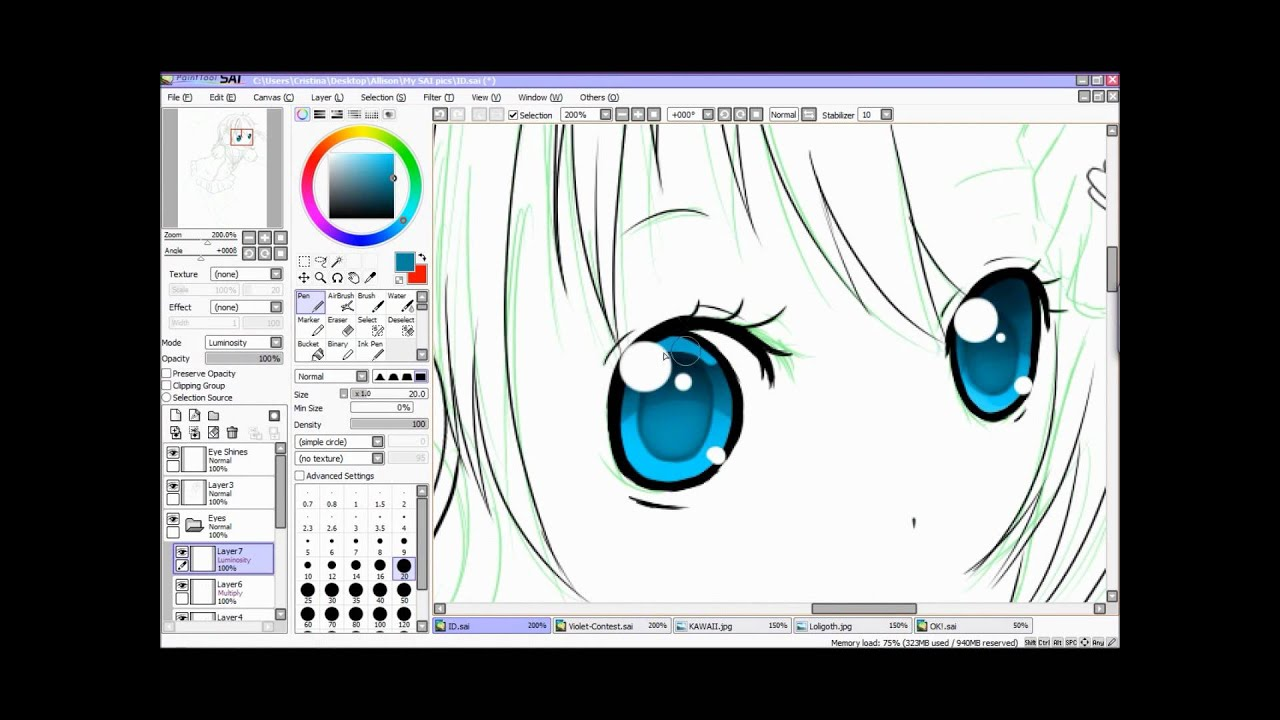 Coloring Paint Tool Sai Cell