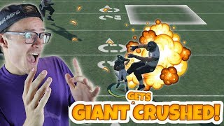 40 FOOT GIANT GOES FLYING AFTER HUGE TRUCK LOL!! Madden 18 Gauntlet