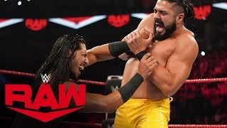 Ali vs. Andrade: Raw, Oct. 14, 2019