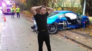I actually crashed my Audi R8..