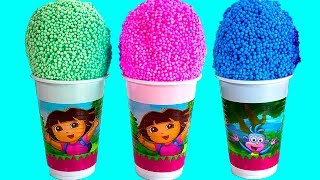 Dora The Explorer Surprise Eggs Dora La Exploradora Play Foam Huevos Sorpresa Spiderman