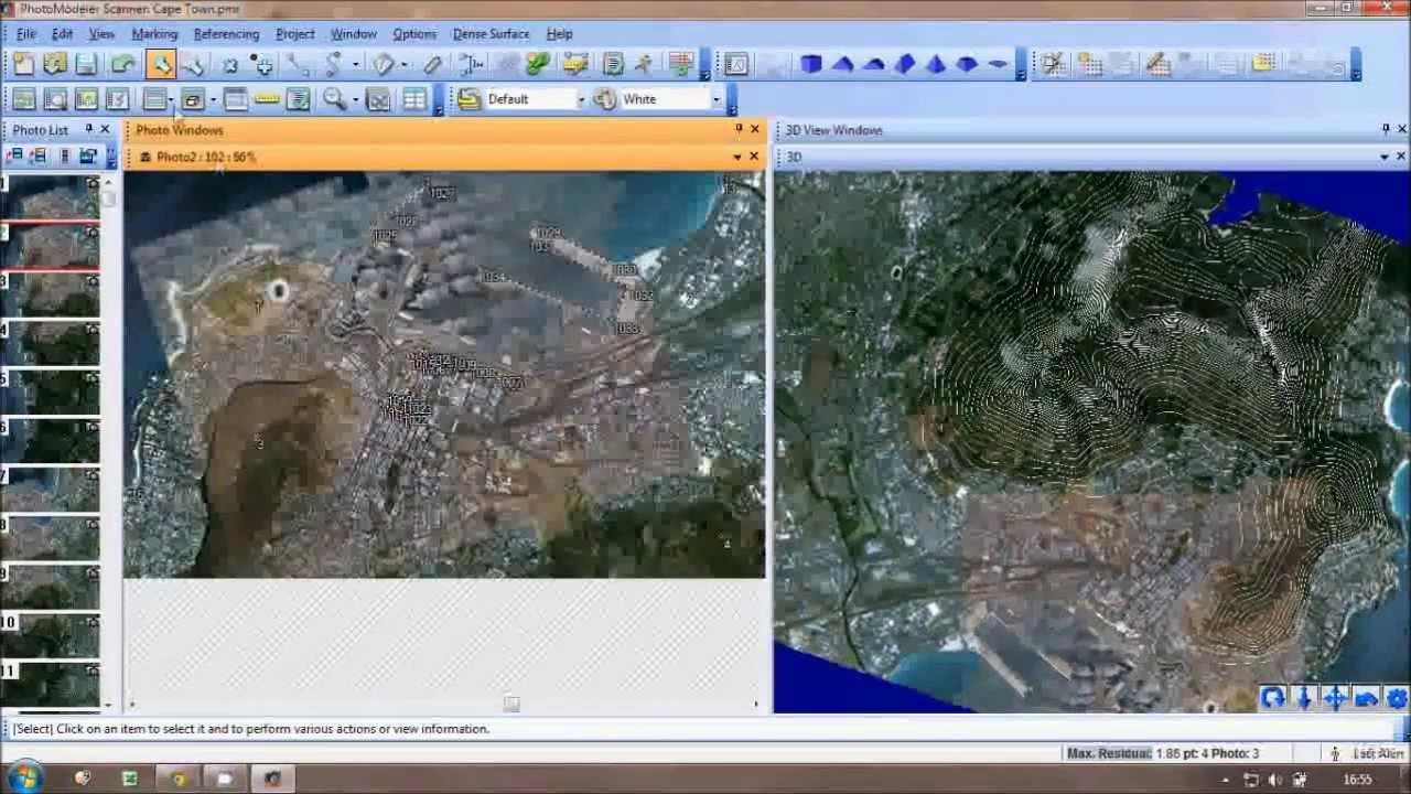 Using google earth images in photomodeler scanner youtube for Photo modele