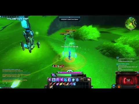 WildStar beta: Holdout: Death From Below! soldier path quest. Level 16 Esper.