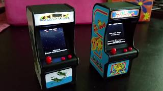 Galaxian and Ms. PacMan Tiny Arcade Cabinets