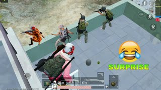 Surprising Enimies From Behind 🤣😂 | PUBG MOBILE FUNNY MOMENTS