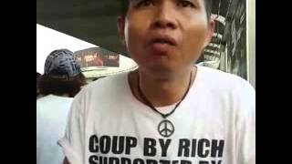 Protest at Victory Monument. Narrated and translated into English by Pravit Rojanaphruk