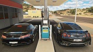 Forza Horizon 3 Online - Nissan GT-R & Mercedes-Benz AMG GT-R (Ft. FTHY)