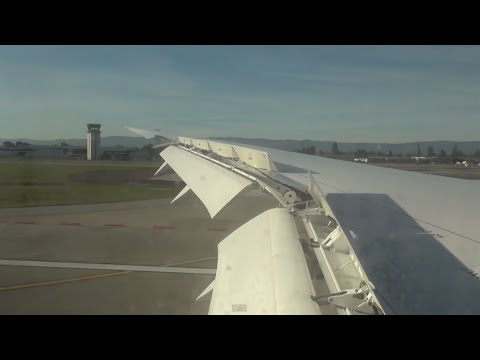 ANA 787 San Jose - Approach and Landing