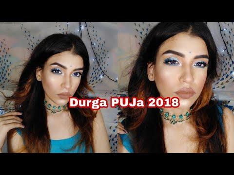 #festive         First Durga Puja Makeup Tutorial 2018 | Ritika Sengupta