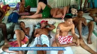 Flagra: vídeo mostra detentos brigando em pátio de presídio