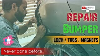 Fix CAR BUMPER with MAGNETS instantly👇 Building MAGNETIC Slot Tab 👍Magnet Lock 👇Repair broken Bumper