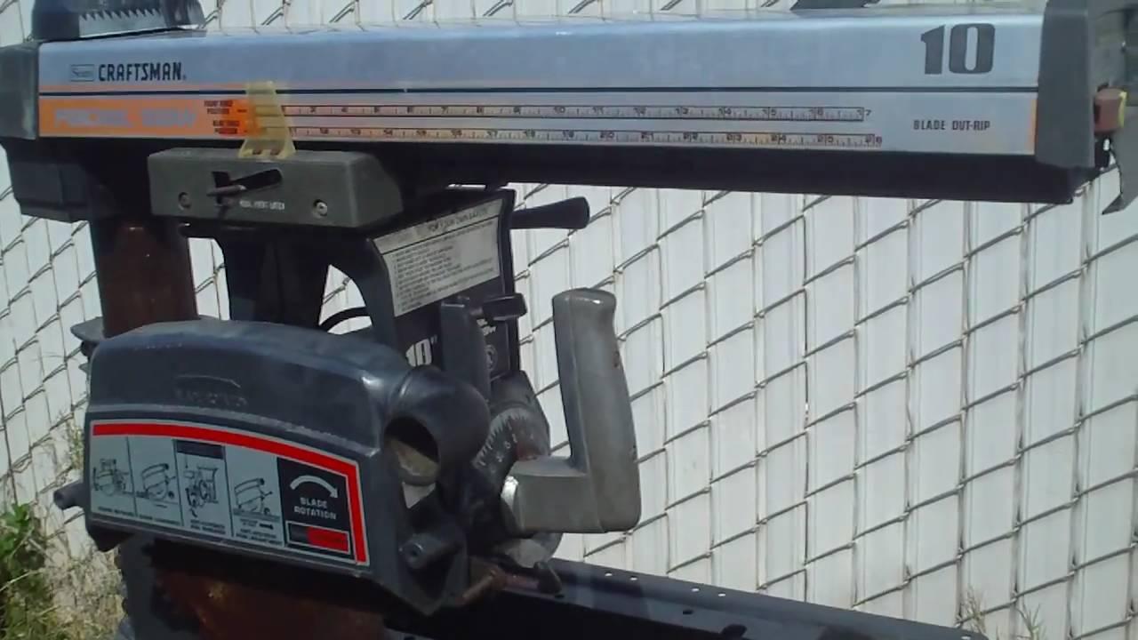 sears craftsman radial arm saw manual