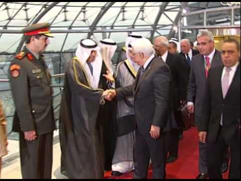 President  Abbas Arrives in the Kuwait Capital to Attend  the 25th Arab League Summit