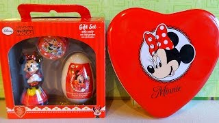 Disney Minnie Mouse Gift Box Toy Egg Cosmetics for Girls Unboxing Xmas
