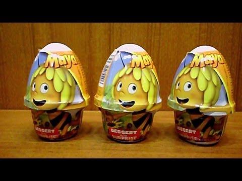 3 Surprise Eggs Maya the Bee Movie - Die Biene Maja Toys Unboxing - Pszczółka Maja - Sorpresa
