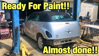 Rebuilding a Totaled wrecked Pt Cruiser Part 6 from copart  at 14 years old