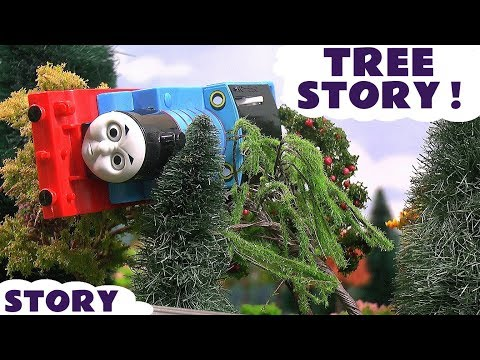 Thomas and Friends Toy Trains Tree Prank Accident - Funny family friendly Tom Moss Kids story TT4U